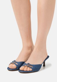 Who What Wear - RACHEL - Heeled mules - denim - 5