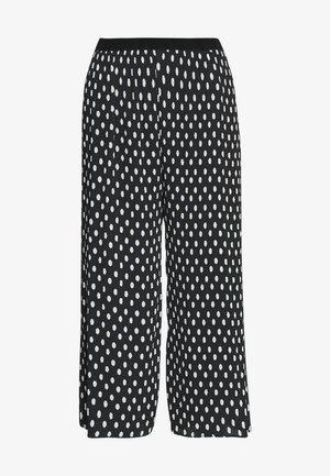 VALENE CROPPED - Spodnie materiałowe - dark navy