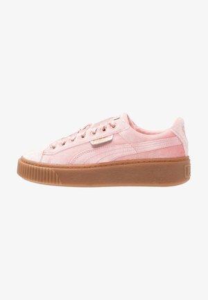 BASKET PLATFORM VS VELVET - Sneakersy niskie - silver/pink/gold