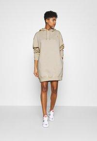 Nike Sportswear - HOODIE DRESS - Day dress - oatmeal - 1