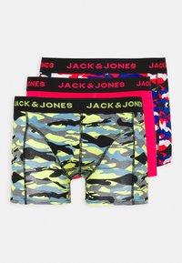 Jack & Jones - JACNEON CAMOUFLAGE TRUNKS 3 PACK - Shorty - surf the web/diva pink/lemon tonic - 4
