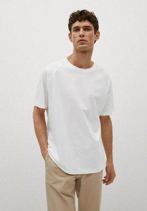 FILIPPE - Basic T-shirt - blanc cassé