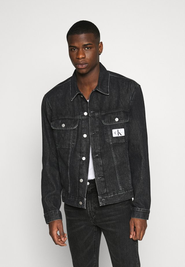 REGULAR JACKET - Denim jacket - black