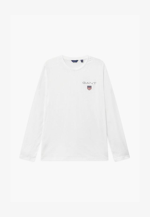 MEDIUM SHIELD UNISEX - Long sleeved top - white
