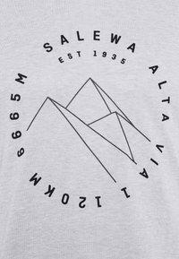 Salewa - ALTA VIA DRY TEE - Print T-shirt - heather grey - 6