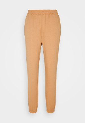 Regular fit joggers without drawstring - Tracksuit bottoms - camel