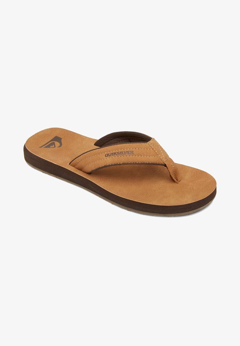 Quiksilver - CARVER - T-bar sandals - beige
