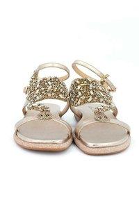 Alma en Pena - SIENA - Ankle cuff sandals - gold - 4