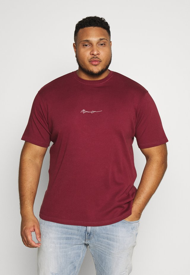 ESSENTIAL  - T-shirt basique - burgundy