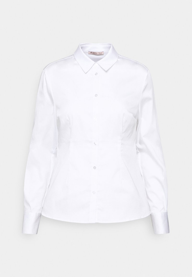 Anna Field - Slim fit business blouse - Button-down blouse - white