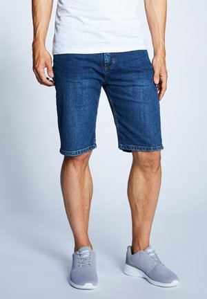 Denim shorts - mid stone