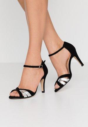 DONIT - High heeled sandals - noir/argent