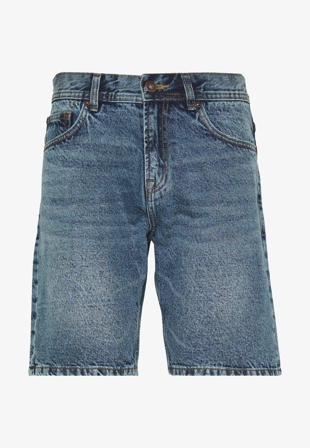 RIGID - Szorty jeansowe - blue