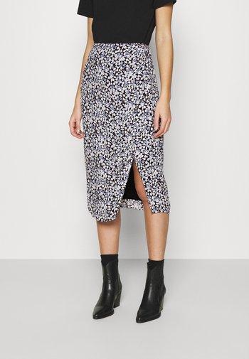 CHASE SKIRT - Pencil skirt - black/blue