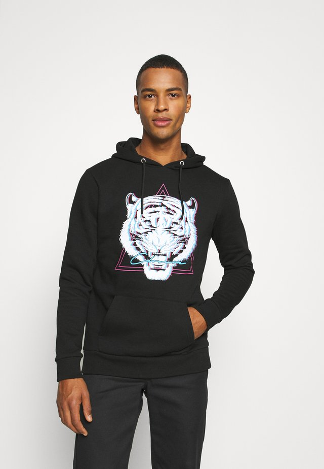 ELECTRIC TIGER HOODY - Collegepaita - black