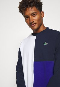 Lacoste Sport - BLOCK - Sweater - white/navy blue/cosmic - 3