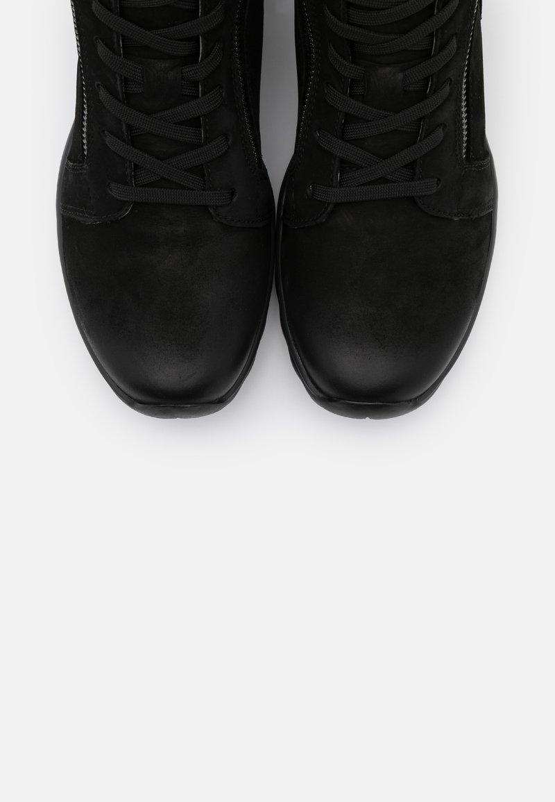 Gabor Rollingsoft Stiefel Boots dunkelgrau gefüttert Leder Reißverschluss