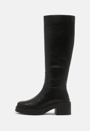 JOSUA - Platform boots - black