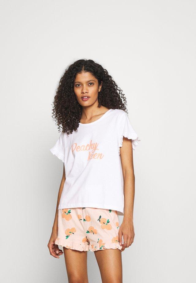 SLOGAN TEE SHORT  - Pyjama - peach