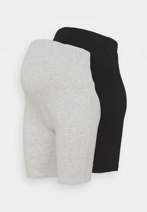 2 PACK  - Shorts - black/light grey