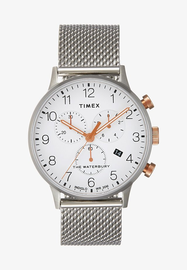 WATERBURY CLASSIC CHRONOGRAPH - Hodinky se stopkami - silver-coloured/white