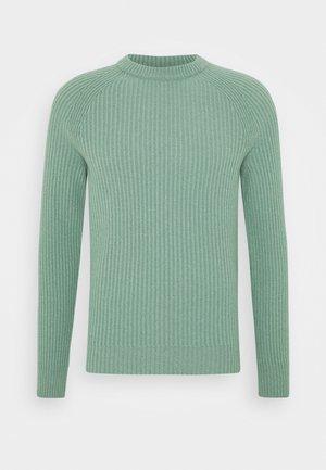 Strikkegenser - celadon green