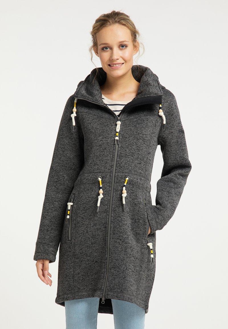 Schmuddelwedda - Zimní kabát - dunkelgrau melange