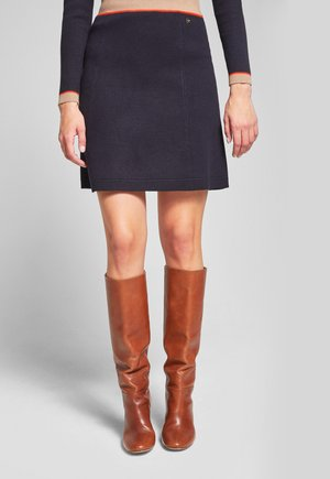 KAIT - A-line skirt - navy/beige/orange