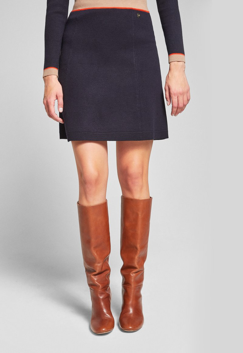 JOOP! Jeans - KAIT - A-line skirt - navy/beige/orange