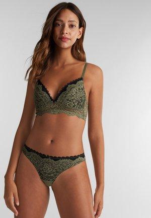 Triangle bra - olive