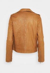 Vero Moda - VMMILANO JACKET - Leather jacket - cognac - 6