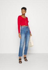 Monki - MOLUNA JEANS - Straight leg jeans - blue medium dusty - 1