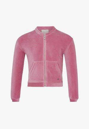 Sweater met rits - old pink