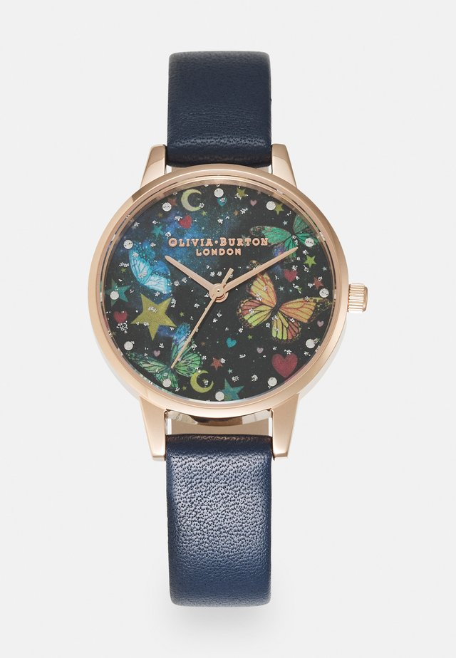 NIGHT GARDEN - Horloge - blue/black