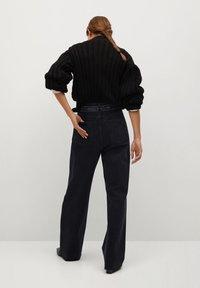 Mango - DANIELA - Jean flare - black denim - 2