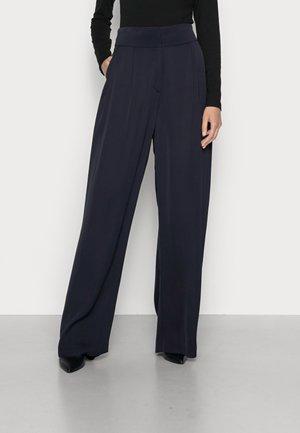 ESATINA - Trousers - bleu marine