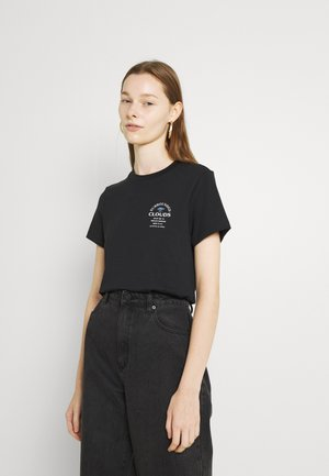 CREWNECK WITH GRAPHIC RELAXED FIT - Print T-shirt - black