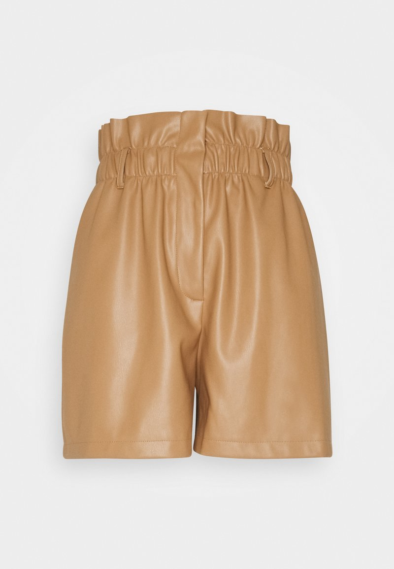 Vero Moda - VMSOLARIE COATED - Shorts - tobacco brown