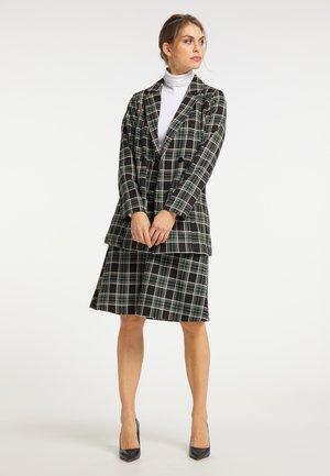 Short coat - schwarz weiß grün