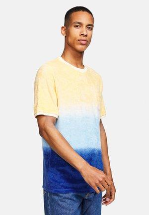 T-shirt print - blau orange
