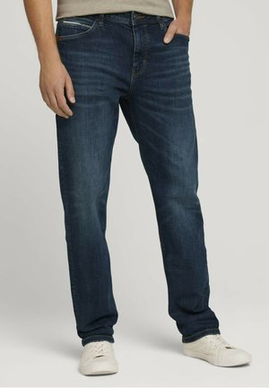 Relaxed fit jeans - used dark stone blue denim