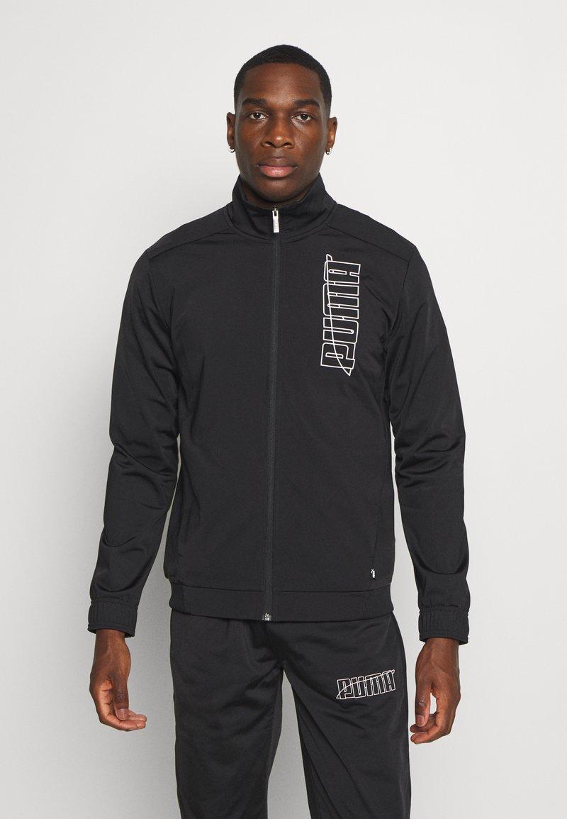 Puma - GRAPHIC TRACKSUIT - Trainingsanzug - black