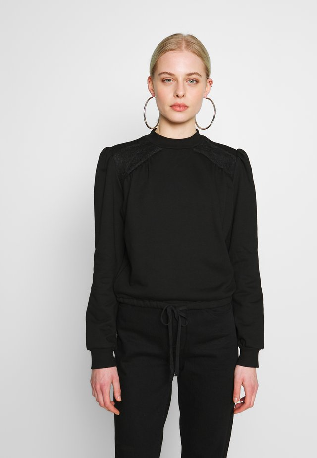 TIE WAIST DETAIL - Sweatshirt - black