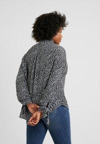 Glamorous Curve - DALMATIAN SPOT TIE SLEEVE - Button-down blouse - monochrome - 2