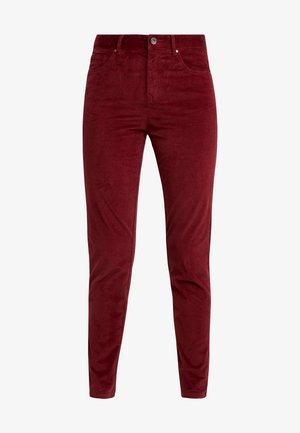 SKINNY TROUSER - Trousers - burgundy