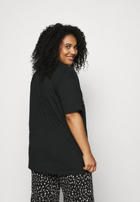 Simply Be - FLORAL LIPS SLOGAN - Print T-shirt - black - 2
