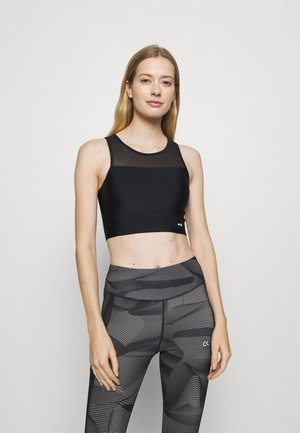 SHINE ON CROP TANK - Light support sports bra - black