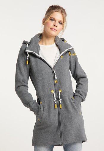 Zip-up sweatshirt - steingrau melange