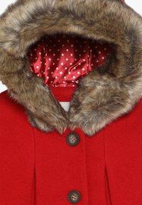 mothercare - BABY FLOW BLEND COAT WITH HOOD - Vinterkappa /-rock - red - 4
