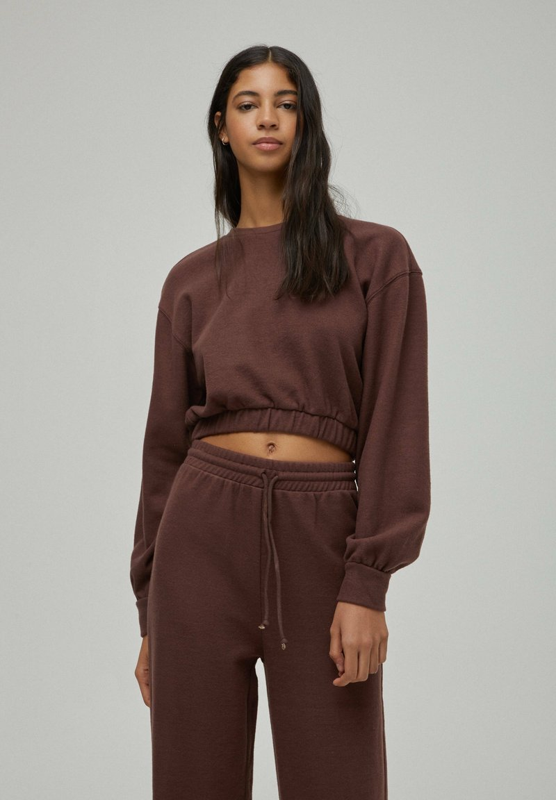 PULL&BEAR - Sweatshirt - brown